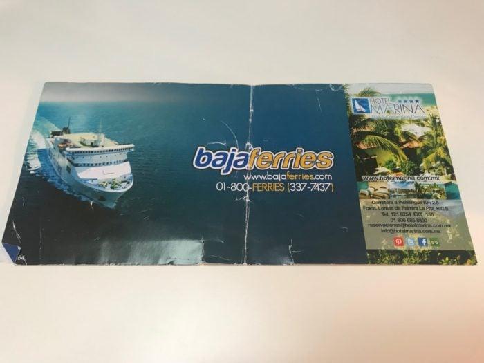 Taking the Baja Ferry from Topolobampo to La Paz ticket