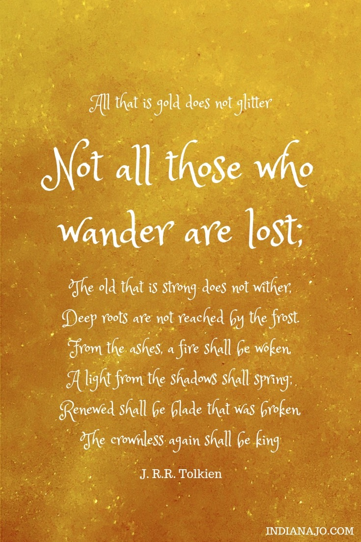 Not all those who wander are lost nomad life