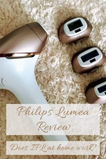 Pinterest cover of IPL Philips Lumea Review