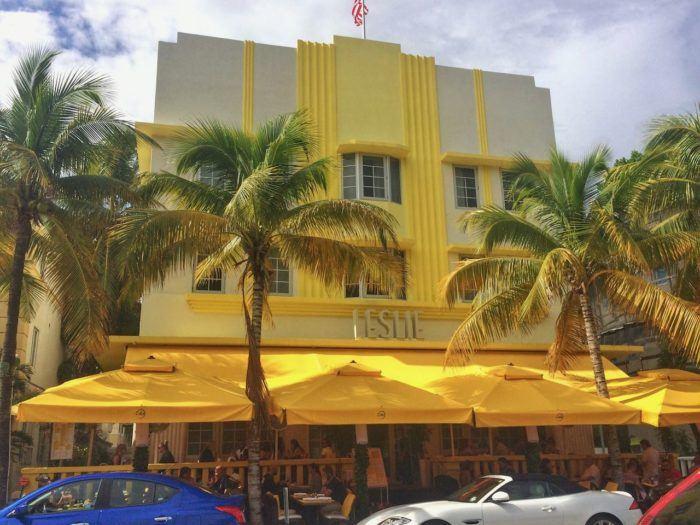 Art Deco hotel on ocean drive Miami south beach