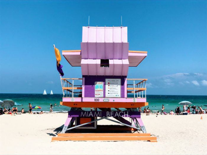 lifeguard station Miami Beach pink