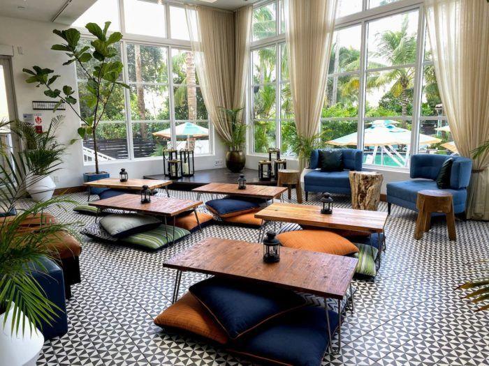 Generator hostel lobby in Miami