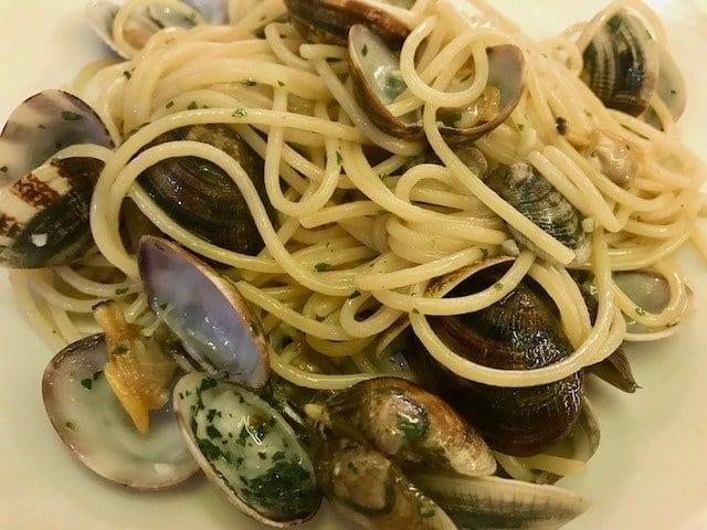 seafood spaghetti in Venice