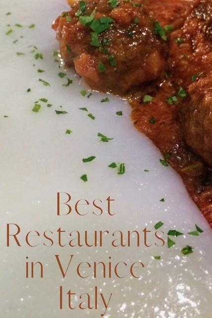 Best restaurants in Venice Italy Pinterest