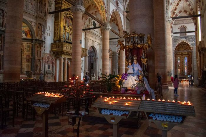Interior of a Church in Verona