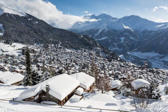 snowy verbier village