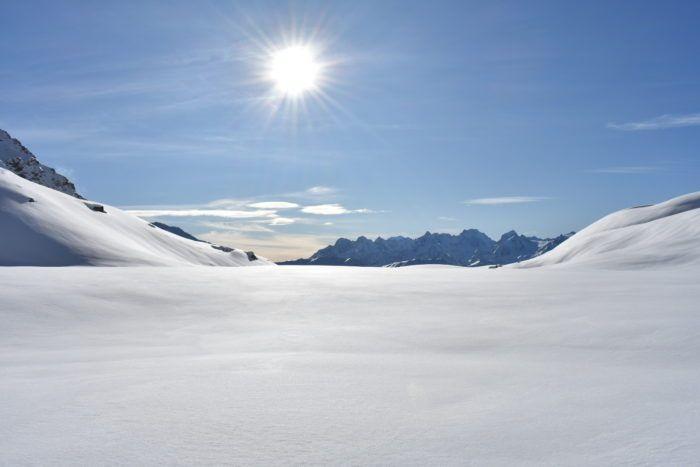 snowy scene in verbier