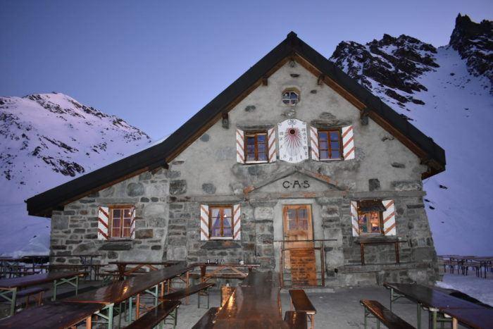 mountain hut in verbier
