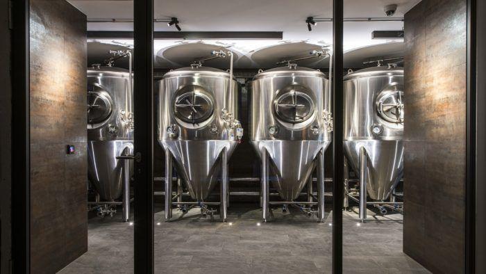 brewery vats in Verbier