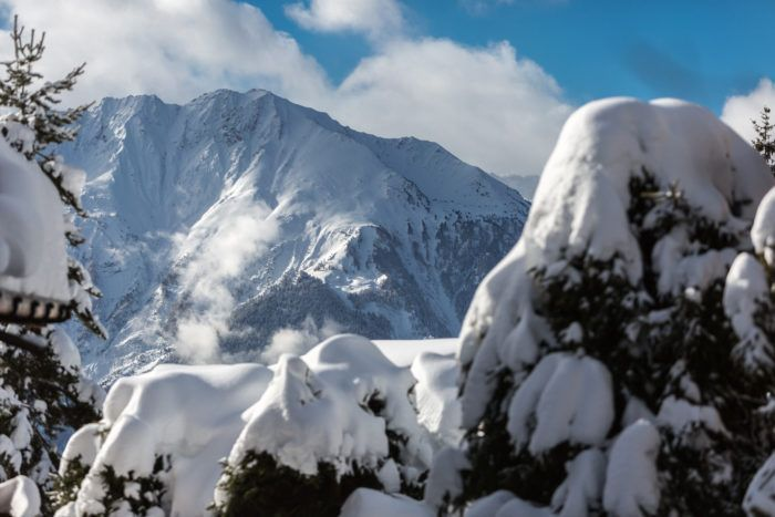 Snowy Verbier mountains
