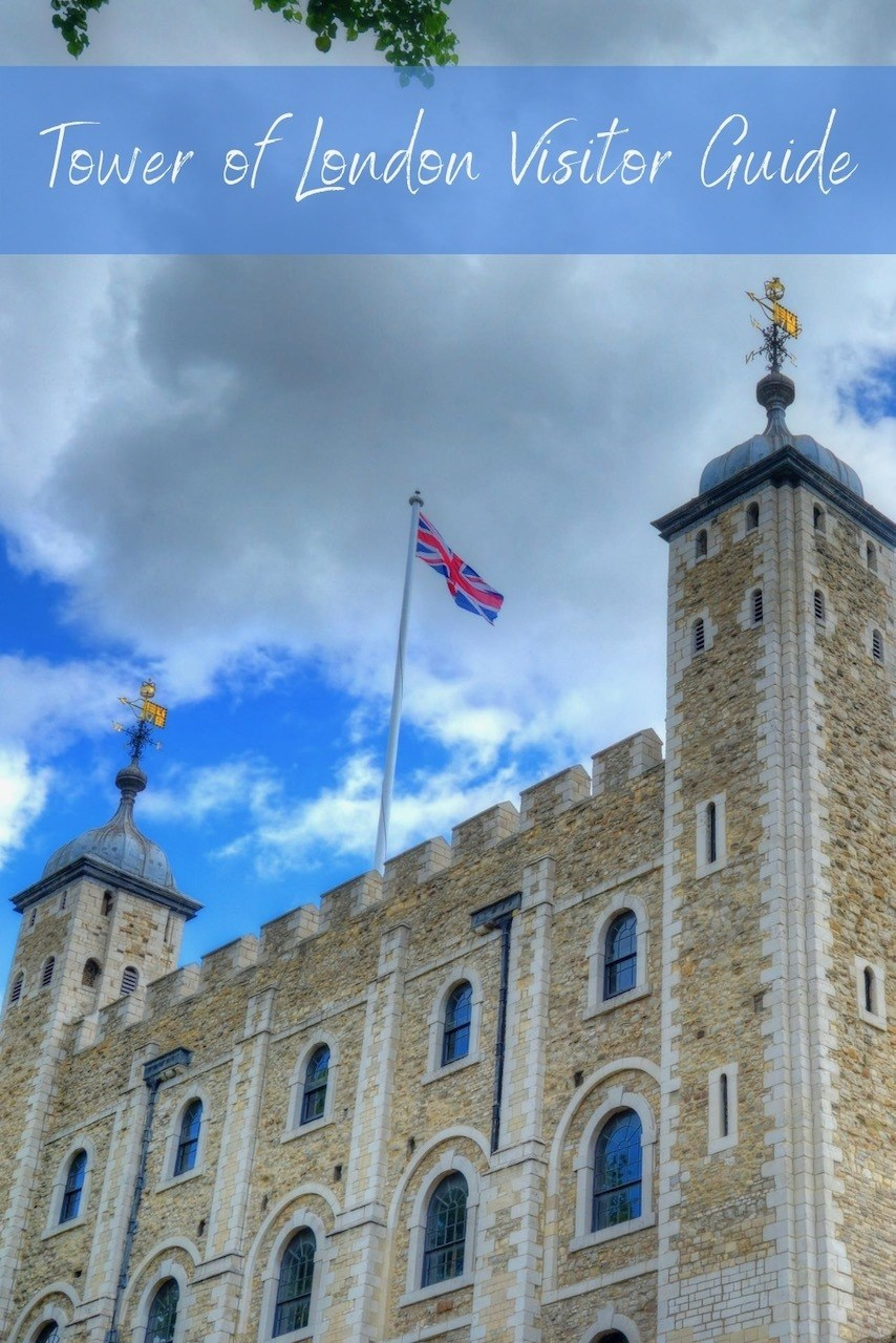 Tower of London with flags