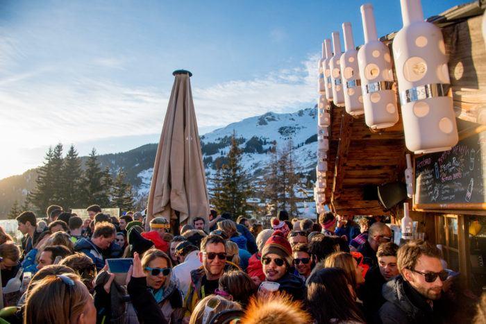 apres ski bar in verbier