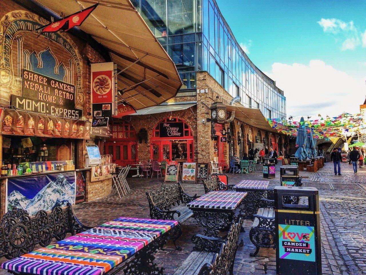 Camden Market in North London