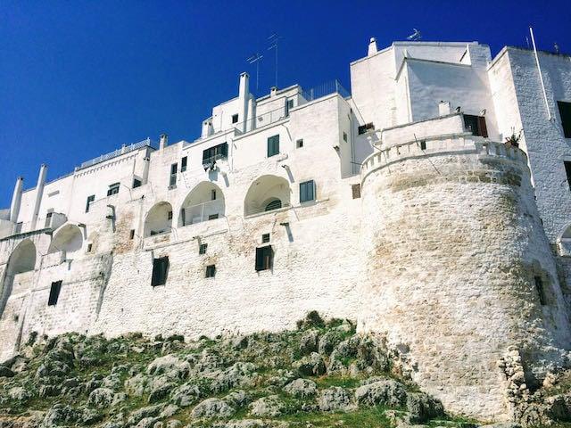 White castle against blue sky in Ostuni