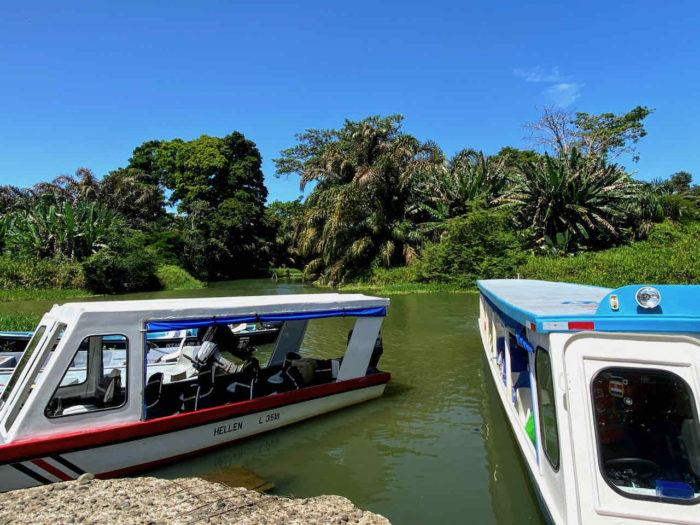 Boats to take you to Tortuguero National Park in Costa Rica