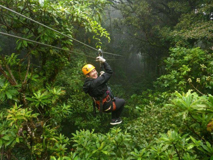 zip lining in monteverde cloud forest in costa rica