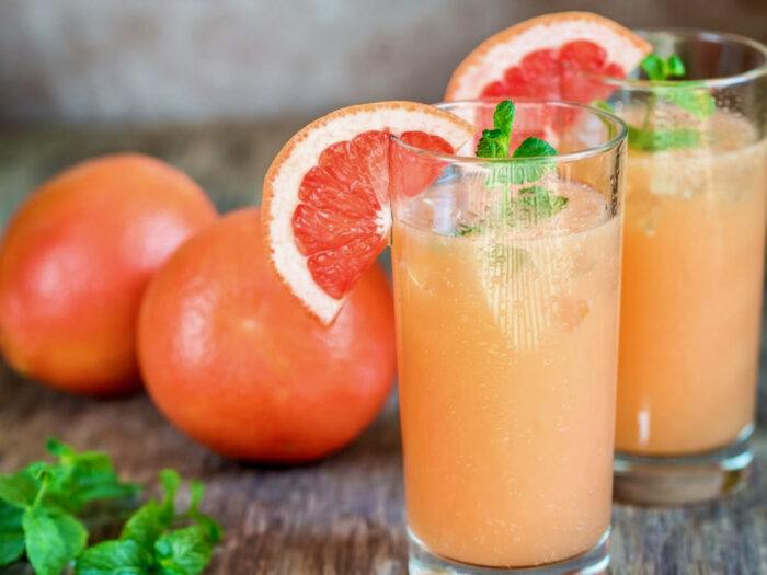 Paloma cocktail with graprefruits