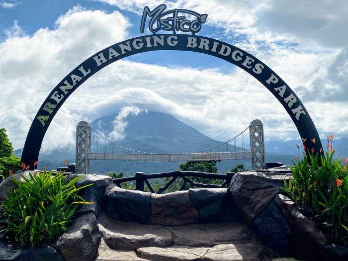 Mistico park views of Arenal volcano