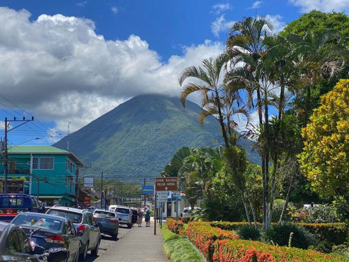View of Arenal Volcano from La Fortuna Town